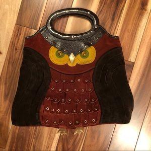 Ultra RARE Kate Spade Sherwood Ida Owl Bag Suede